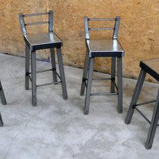 Industrial Steel Bar Stool No.002