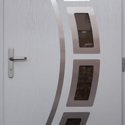 Composite Modern Front Entry Door -