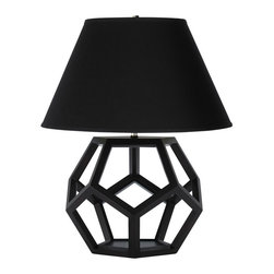 "Dustin Dodecahedron Table Lamp - Confession: I was initially drawn to this lamp because it had the word ""dodecahedron"" in its name. But as a Ralph Lauren-fiend, I was also drawn to this beautiful, strong, graphic shape. It's so modern, but I could see it being a piece that would last forever."