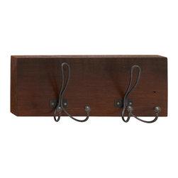 Polished Wood Metal Wall Hook - Description: