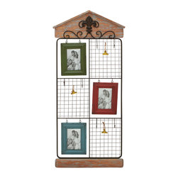 Benzara - Regal and Classic Style Metal Wood Wall Photo Frame Home Decor - Description: