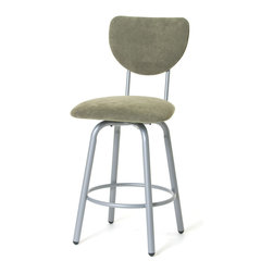 Amisco - Amisco Jason Upholstered Back Swivel Stool 40489, 26 Inches (Counter Height) - Amisco