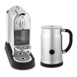 Nespresso Citiz Espresso Maker and Aeroccino Plus Automatic Milk Frother, Chrome - I love my Nespresso machine! This limited-edition chrome holiday version is so fabulous — I wish I could trade in mine for the upgrade.