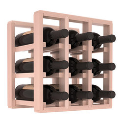 Wine Racks America® - 9 Bottle Counter Top/Pantry Wine Rack in Redwood, White Wash Stain + Satin Finis - These counter top wine racks are ideal for any pantry or kitchen setting.  These wine racks are also great for maximizing odd-sized/unused storage space.  They are available in furniture grade Ponderosa Pine, or Premium Redwood along with optional 6 stains and satin finish.  With 1-10 columns available, these racks will accommodate most any space!!