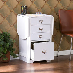 Wildon Home � - Kirnwood Fold-Out Organizer and Craft Computer Desk - Whether you need organization in the office, craft room or bedroom this folding organizer desk is a unique space saving solution. With the leafs on each side folded down, this desk is as small as a common end table or file cabinet. Open both sides for a very functional 48'' work area. Three small drawers make room for common items and a lower letter file is perfect for bills and paperwork. Get organized today and have space left over! Features: -Craft desk.-Asian hardwood, PVC veneer and MDF construction.-Distressed: No.Dimensions: -Top 3 drawers: 3'' H x 13'' W x 11'' D.-Letter file drawer: 10'' H x 13'' W x 10'' D.-Dimensions: 30'' Height x 48'' Width x 15.75'' Depth.-Overall Product Weight: 56lbs.Assembly: -Assembly required.Warranty: -Manufacturer provides 1 year warranty for parts.