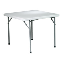 """Office Star - Work Smart Resin 36 Inch Square Resin Table - 36"""" square resin table"""