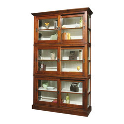 EuroLux Home - Large Manor House Cherry Bookcase Sliding - Product Details