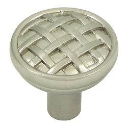 Stone Mill Hardware - Stone Mill Hardware Satin Nickel Basket Weave Cabinet Knob - Stone Mill Hardware - Satin Nickel Basket Weave Cabinet Knob