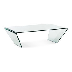ZUO MODERN - Migration Coffee Table Clear Glass - Migration Coffee Table Clear Glass