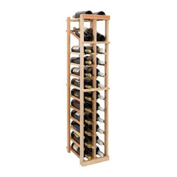 Wine Cellar Innovations - 4 ft. 2-Column Wine Rack w Display (All-Heart Redwood - Midnight Black Stain) - Choose Wood Type and Stain: All-Heart Redwood - Midnight Black StainBottle capacity: 24. Two column wine rack. Versatile wine racking. Custom and organized look. Built in display row. Beveled and rounded edges. Ensures wine labels will not tear when the bottles are removed. Can accommodate just about any ceiling height. Optional base platform: 9.69 in. W x 13.38 in. D x 3.81 in. H (5 lbs.). Wine rack: 9.69 in. W x 13.5 in. D x 47.88 in. H (4 lbs.). Vintner collection. Made in USA. Warranty. Assembly Instructions. Rack should be attached to a wall to prevent wobble