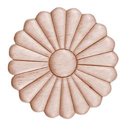 Superior Moulding of Nevada - 3004 Embossed Wood Applique - Decorative wood onlays and appliques, are decorative ornaments useful for bringing visual interest to flat areas. Embossed wood onlays and appliques are often used to decorate fireplace mantels, stove or range hoods and cabinetry headers.