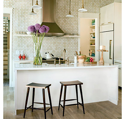 eclectic kitchen Tile