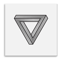 Gallery Direct - Kovalto1's 'Impossible Triangle' Canvas Gallery Wrap - A framed and matted print by artist Kovalto1.