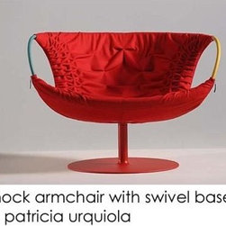 "Smock Swivel Armchair By Patricia Urquiola For Moroso Of Italy - Usually when I think ""smock,"" I think of every unfortunate outfit Miss Ellie used to wear on Dallas. This chair has completely changed my opinion on the word."