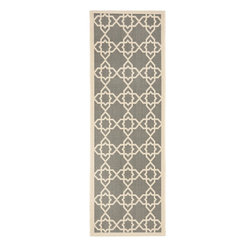 Safavieh - Safavieh Courtyard Transitional Rug X-3-642-2306YC - Safavieh takes classic beauty outside of the home with the launch of their Courtyard Collection. Made in Belgium with enhanced polypropylene for extra durability, these rugs are suitable for anywhere inside or outside of the house. To achieve more intricate and elaborate details in the designs, Safavieh used a specially-developed sisal weave.