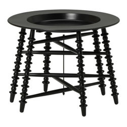 TROLLSTA Tray Table - This jet black tray table is definitely Modern Morocco. It's reminiscent of the traditional Moroccan tea table, but in a whole new way!