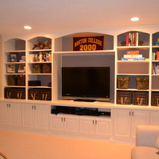 Traditional Basement by Premiere Pros