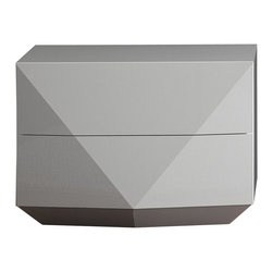 Rossetto - Sapphire Nightstand in Glossy White by Rossetto USA - Features: