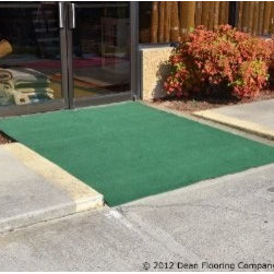 Dean Flooring Company - Dean Indoor/Outdoor Carpet/Rug - Golf Course Green - 6' x 10' - Dean Indoor/Outdoor Carpet/Rug - Golf Course Green - 6' x 10' with Marine Backing : Indoor/Outdoor Golf Course Green Area Rug/Carpet with Marine Backing by Dean Flooring Company Size: 6' x 10' Face: 100% Hi UV stabilized polypropylene fiber. Backing: All weather non-skid latex rubber. Edges: Will not ravel or delaminate Fade resistant Commercial or residential. Easy to clean (hose off, sweep, vacuum) Made in U.S.A. Portable Great Price! Great for use under party/event/wedding tents and canopies. Also great for decks, patios, yards, parks, picnics, camping and other outdoor uses! This rug is ideal for: pools, boat carpet, entrance ways, decks, patios, under grills, on docks, taking with you when traveling in your RV (roll it out at your door when you park), picnics, party tents, wedding tents, event tents, camping. Please note: The edges of this rug are unbound. This product is manufactured and sold exclusively by Dean Flooring Company.