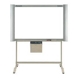 "Panasonic Whiteboards - 4-Panel Electronic White Board with Projector Panel and Integrated Plain Paper P - With cutting edge technology, Panasonic's electronic white boards are sure to help you enhance any presentation or lecture in the classroom or in the office! Electronic white boards enable you to capture, print, and save notes on your white board. All Panasonic Panaboards make sharing notes after class simple. Make your meetings even more professional with Panasonic's easy-to-use interactive white boards, which are great for PowerPoint&reg presentations! How It Works: Write directly on the whiteboard using a regular dry-erase marker, and then use the LCD screen to choose the scan or print option. The screen on the board will scroll behind the board where it will be scanned with the use of thermal transfer film. The image can then be transferred to your computer that is connected to the whiteboard with a USB cable, or printed from the integrated printer on plain printer paper. Features: -Plain paper printing with multiple copies -Can be controlled from your PC -Notes can be saved onto your computer -Can be wall mounted or used with a floor stand -Executive-style, brushed aluminum frame -Provides multiple copies, logic control, and a PC interface -4 endless type panels -Includes one non-glare screen for projection -Computer and projector not included Specifications: -Windows&reg compatible -Power Supply: AC 100-120V, 50/60 Hz -Includes 1 roll of thermal transfer film, 3 dry erase markers (black, red, and blue) and 1 eraser -Includes Panasonic Document Management System image capture software -USB 2.0 PC Interface with USB, TWAIN and printer drivers for Windows&reg -Integrated black & white, plain paper printer -Copy Density: 203 dpi -Weight (Without Stand): 94 lbs -Copying Area: 35.4"" H x 55.1"" W -Overall Dimensions (Without Stand): 55"" H x 65"" W x 10.4"" D"