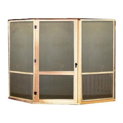 Handy Home Oval Screen Kit with Door for San Marino 12 ft. or Monterey 12 x 16 f - We can't guarantee that the Handy Home Oval Screen Kit with Door for San Marino 12 ft. or Monterey 12 x 16 ft. Gazebos will keep out unwanted neighbors, but you can at least get a handle on pesky insects while you enjoy your gazebo. Framed in the same high-quality cedar that makes up the rest of your gazebo, these durable fiberglass screens will keep bugs out, and the self-closing hinges on the large screen door will let you come and go with ease. The lower half of the door features a heavier fiberglass panel to protect from accidental damage. This entire kit can be easily installed following the detailed assembly instructions. All the necessary hardware is included, and the cedar frames are unfinished so you can stain or paint them to your taste.About Handy HomeSince 1978, Handy Home has been making it easy and affordable for their customers to add storage sheds, gazebos and playhouses to their homes. As North America's largest producer of wooden storage and recreational building kits, Handy Home makes durable structures that require no sawing or drilling and can be delivered when and where their customers need them.