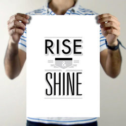 Rise & Shine Art Print by Torso Vertical