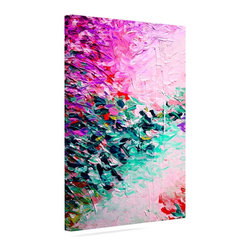 """Kess InHouse - Ebi Emporium """"Romantic Getaway"""" Pink Teal Wrapped Art Canvas (12"""" x 10"""") - Bring your outdoor patio to life with this artistic outdoor canvas wrap featuring gorgeous artwork by KESS InHouse. These canvases are not only easy to hang and remove but also are the perfect addition to your patio collection. These canvases are stretched around a wooden frame and are built to withstand the elements and still look artistically fabulous. Decorating your patio and walls with these prints will add the splash of art and color that is needed to bring your patio collection together! With so many size options and artwork to choose from, there is no way to go wrong with these KESS Canvas Wraps!"""