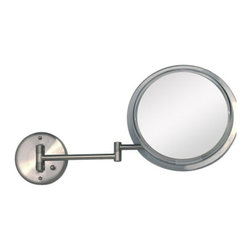 Zadro Products - Zadro Products Surround Light Satin Nickel 5X Wall Mirror - SW45 - Shop for Bathroom Mirrors from Hayneedle.com! Line your lips and eyes with ease looking into the Zadro Surround Light Satin nickel 5X Wall Mirror. The Surround Light technology replicates the look of natural sunlight across your face to make sure you are looking fabulous and 5X magnification lets you see every detail. In sleek satin nickel finish this mirror looks as good as you do.About Zadro Inc.Zadro Inc. has been leading innovation in all sorts of health and wellness products for the last 25 years. They hold more than 30 engineering and design patents and strive to keep up with the changing times. They designed the first ever fogless mirror and have continued to contribute to the field ever since.