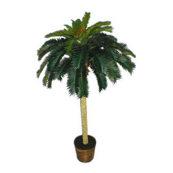 Oriental-Décor - 6' Tropical Cycas Palm Tree - Give any indoor setting some Middle Eastern style with this 6 foot Tropical Cycas Palm Tree. Constructed using natural-looking materials such as silk and polyester, this palm tree is made to look as real as possible even when up close. The plant comes in a beautiful brown pot for that gorgeously finished look. Standing at 72 inches, you can easily transform any room, corner, or hallway with this lush, Cycas palm. A popular ornamental, Cycas palm trees have been around for more or less 200 million years. These palms are a popular sight in the Far East, and have been used almost everywhere for landscaping purposes. If you have always loved the look of a real Cycas Palm tree, you will love this synthetic version just as well. Perfect for your home, office or business establishment, this 6 foot Tropical Cycas Palm Tree will bring some understated Far Eastern style to any interior.