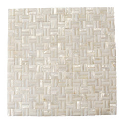 Serene White 3D Groutless Pearl Shell Tile - Serene White 3D Pearls Pattern Glass Tile       It is not recommended to be installed in a pool or anywhere the tile will be submerged in water.