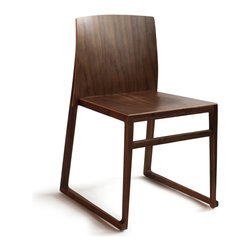 OSIDEA - Osidea Hanna Sled Chair, Walnut - The Sledge Chair is the casual cousin of the Hanna collection. She slides comfortably into a breakfast nook, or slides up to a side table for a cosy conversation.