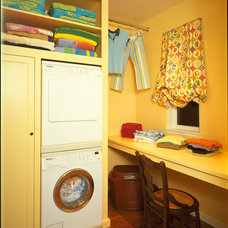 Traditional Laundry Room by FGY Architects