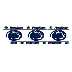 Sports Coverage - NCAA Penn State Nittany Lions Self Stick Wall Border - It's so quick and amazing, just peel and stick! Self-stick, removable, and reusable NCAA Penn State Nittany Lions Wall Borders are the easy way to decorate and won't damage walls! Peel and Stick technology will adhere to any smooth surface. Washable and dry strippable. Colorful graphics are printed on durable, tear-resistant vinyl wall border in the repeating pattern shown. Size: 5 x 15' long per package. It's so quick and amazing, just peel and stick! Installation has never been so easy!