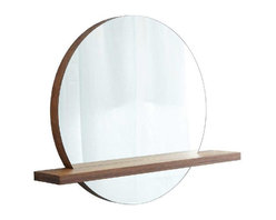 """Native Trails - Native Trails 28"""" Solace Mirror Shelf in Woven Strand - *Handcrafted solid Woven Strand bamboo"""