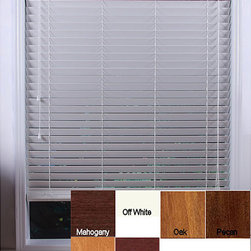 Arlo Blinds - Customized 50-inch Real Wood Window Blinds - Keep the sun at bay with these beautiful wooden window blinds. The blinds add a classy look to any room and they can be raised or lowered to any height. The blinds allow the perfect amount of sunlight to enter a room and create the ambiance you want.