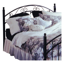 Hillsdale - Hillsdale Willow Metal Headboard in Matte Black-King - Hillsdale - Headboards - 1142 - Graceful in its design and calming in its effect the Willow Headboard has a subtle romance. Classic features include tubular steel posts supporting a double-arched design with smooth scrollwork. The Willow promises to be an attractive addition to your bedroom suite.