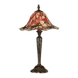 Dale Tiffany - Dale Tiffany TT90266 Victorian 1 Light Tiffany Dragonfly Table Lamp - Victorian 1 Light Tiffany Dragonfly Table Lamp with Art Glass ShadeFeatures: