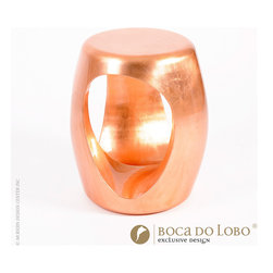 Boca do Lobo Carved Stool Coolors Collection - Carved Stool Coolors Collection