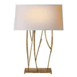 Visual Comfort & Co. - Visual Comfort & Co. S3051GI-NP Studio Aspen 2-Light Table Lamps in Gilded Iron - This 2 light Decorative Table Lamp from the Studio Aspen collection by Visual Comfort will enhance your home with a perfect mix of form and function. The features include a Gilded Iron with Wax finish applied by experts. This item qualifies for free shipping!