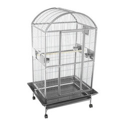 A and E Cage Co. - A&E Cage Co. Madison Dometop Bird Cage - 9004836PLATINUM - Shop for Bird Cages and Stands from Hayneedle.com! The Madison Dometop Bird Cage features durable wrought iron construction and plenty of space for larger birds to fly and play.