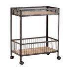 Cyan Design - Desmond Cart - Desmond cart - raw iron and natural wood