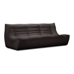 Espresso Carnival Sofa - This espresso sofa by Zuo Modern has an wood frame finish and is from their Carnival collection. It's the perfect sofa to compliment any living room!