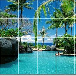 Picture-Tiles, LLC - Tropical Photo Ceramic Tile Mural 1 - * MURAL SIZE: 48x72 inch tile mural using (24) 12x12 ceramic tiles-satin finish.