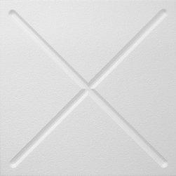 IDS Group - 2x2 White Decorative Ceiling Tiles, San Antonio Design - Total Coverage: 32 SqFt (Box of 8)