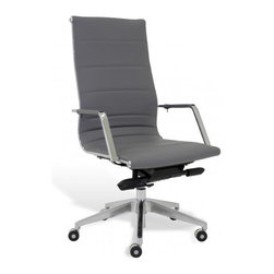 Jesper Office Furniture - Sofia High-Back Office Chair -Grey - Features: