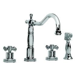 Graff - Graff - Pesaro Widespread Kitchen Faucet w/ Side Spray - G-4220-C3-OB - Pesaro Collection