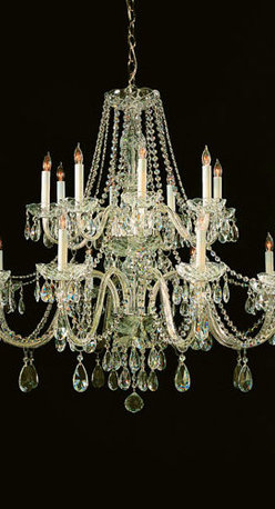 Crystorama Lighting Group - Traditional Polished Brass Eight-Light Hand Cut Crystal Chandelier - - Traditional crystal chandeliers are classic, timeless, and elegant. Crystorama's opulent glass arm chandeliers are nothing short of spectacular. This collection is offered in a variety of crystal grades to fit any budget. For a touch of class, order this collection in Gold for traditionalists or in Chrome to match your contemporary or transitional decor. Crystorama Lighting Group - 1139-PB-CL-MWP