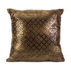 Metallic Geometric Square Pillow - *Simple repeating geometric patterns are all the craze.
