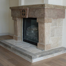 Mediterranean Fireplaces by Neolithic Design Stone and Tile