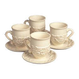 GG Collection - The GG Collection Four Cups and Saucers - The GG Collection Four Cups and Saucers